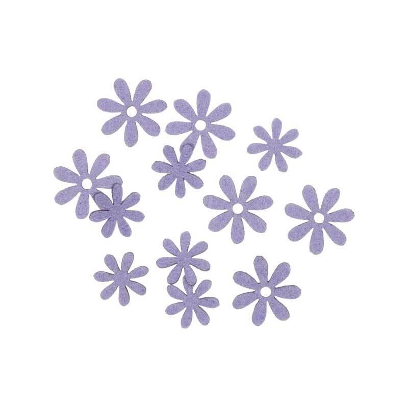 Vilten decoratie delen - bloemen, lavendel