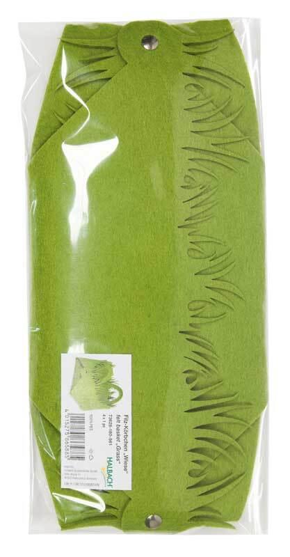 Filzkorb - Wiese, grasgrün