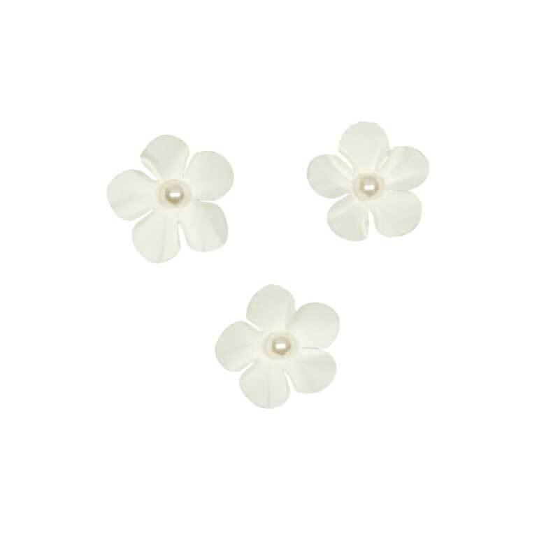 Papier-Blüten - Ø 2,5 cm, creme