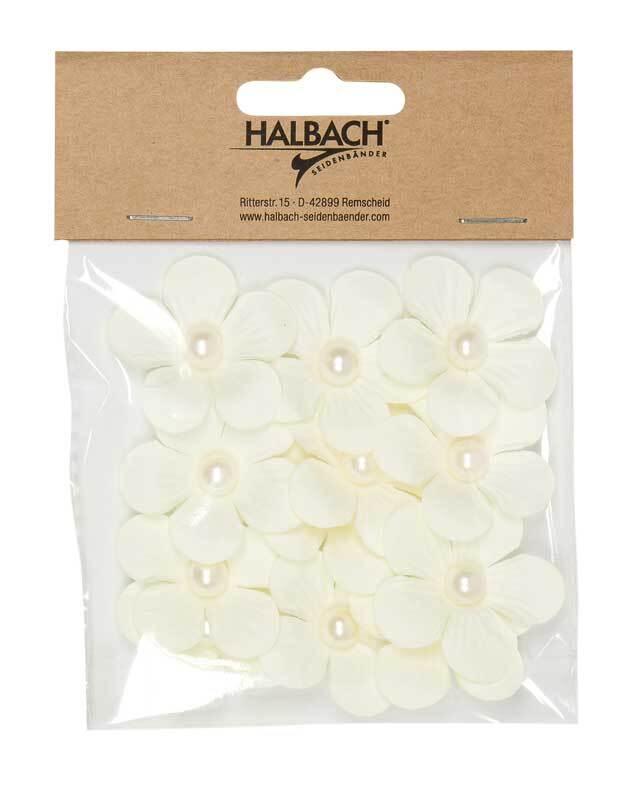 Papieren-bloemen - Ø 4 cm, crème