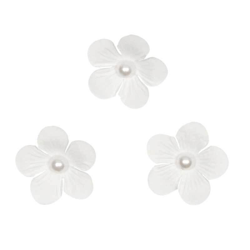 Papieren-bloemen - Ø 4 cm, wit