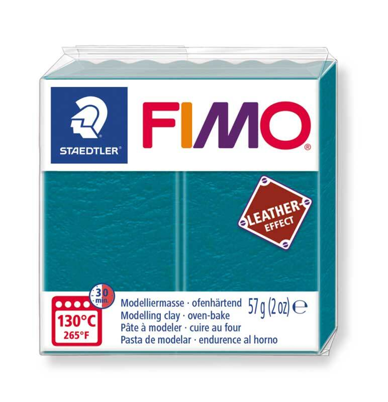 Fimo Leather effect - 57 g, lagune groen