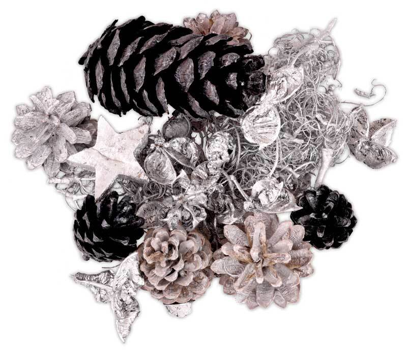 Dennenappelmix - zilvermix, 100 gram