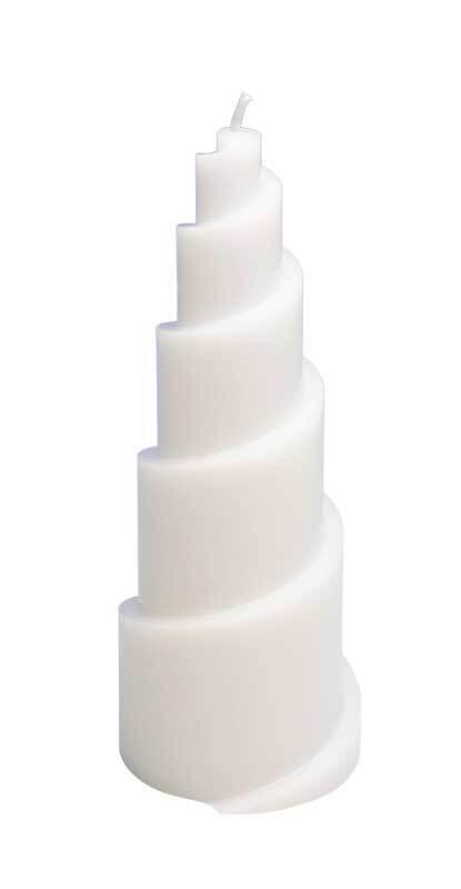 Moule pour bougies - Ø 78 x 200 mm, spirale