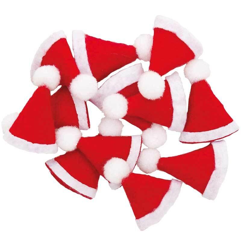 Mini bonnets de Noël, 12 pces