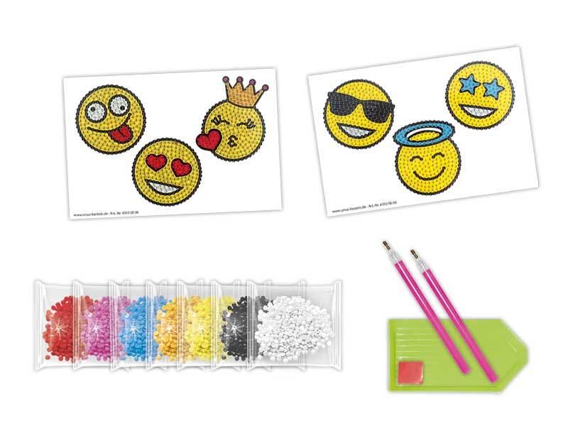 Set Diamond Painting - Sticker, Smiley