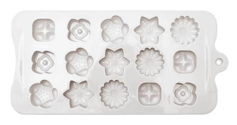 Seifengießform aus Silikon, Blumen