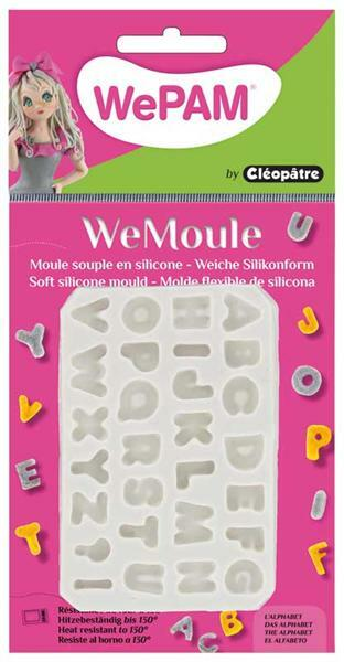 WeMoule siliconenvorm, alfabet