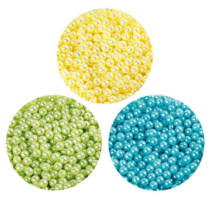 Pearl Clay ® - Set, blau-grün-gelb
