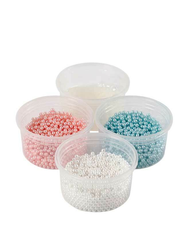 Pearl Clay ® - Set, blau-creme-rosa