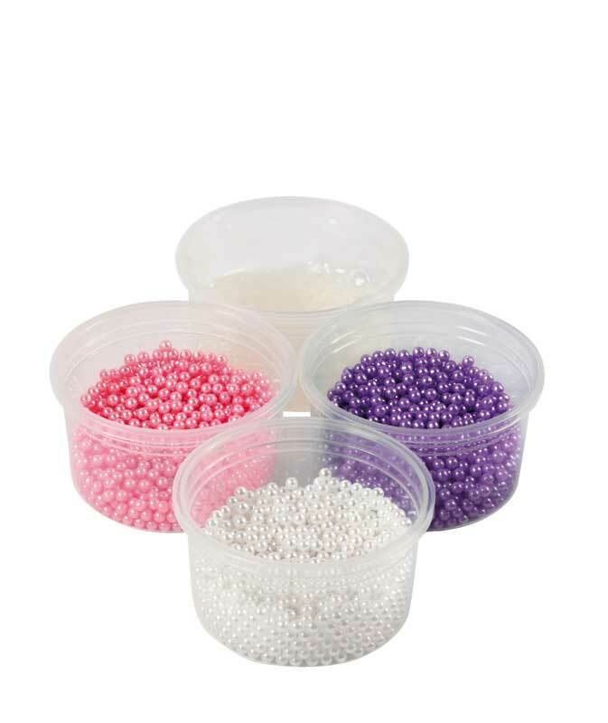 Pearl Clay® - set, wit-lila-roze