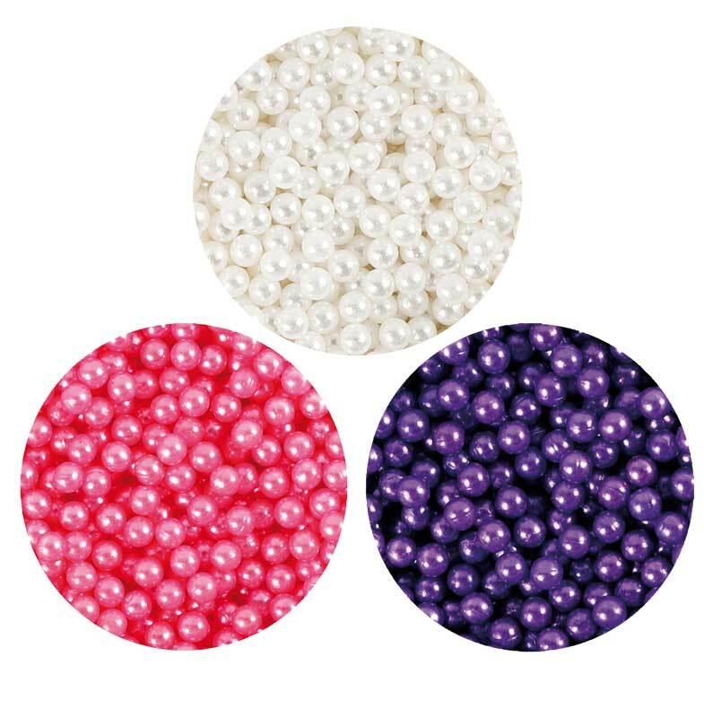 Pearl Clay ® - Set, wit-lila-roze