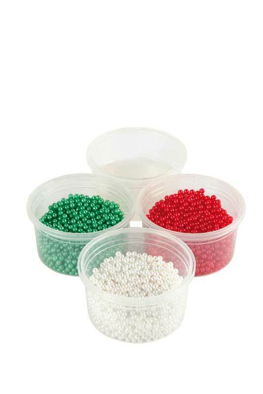 Pearl Clay® - set, groen-wit-rood