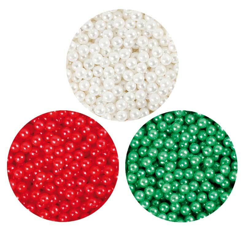Pearl Clay ® - Set, groen-wit-rood