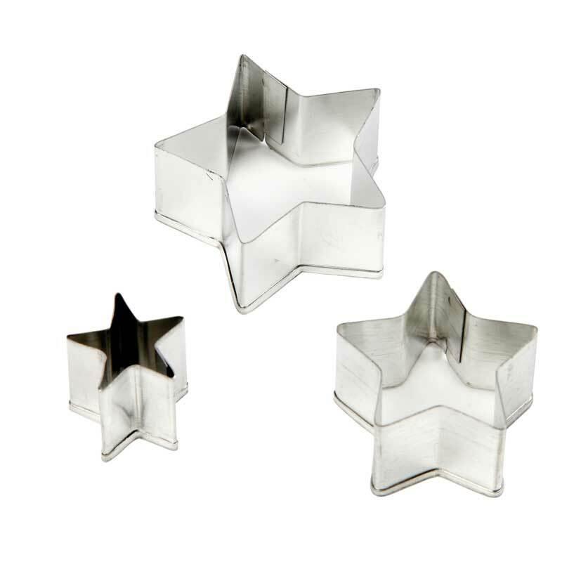 Uitsteekvormpjes - sterren, 3-delig