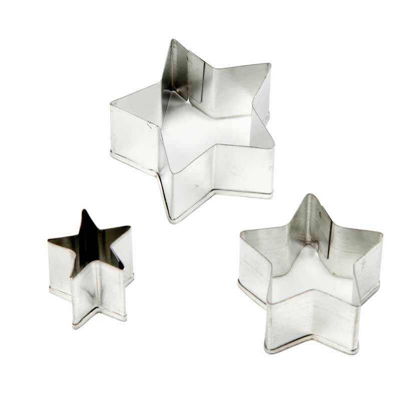 Ausstechformen - Sterne, 3 tlg.