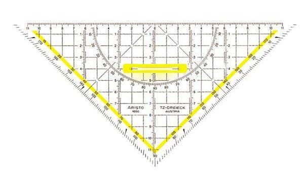 ARISTO driehoek hyp. 25 cm