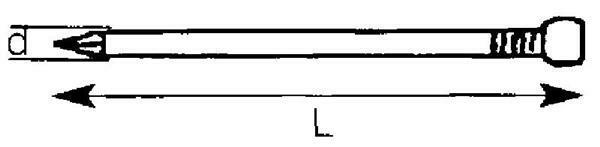 Spijkers met verloren kop - 1 kg, 1,4 x 25 mm