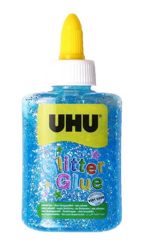UHU Glitter Glue - blau, 90 g