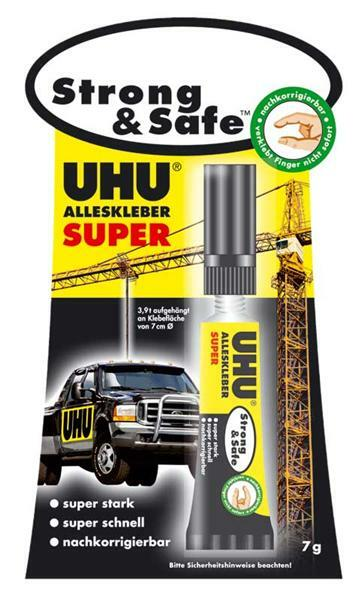 UHU alleslijm - Strong & Safe, 7 g