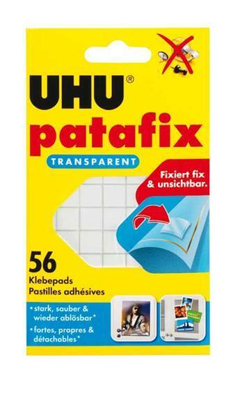 Pastilles adhés.UHU Patafix - 56 pces, transparent
