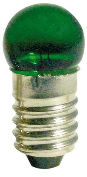 Glühlämpchen 3 - 4,5 V, grün, 10er Pkg.