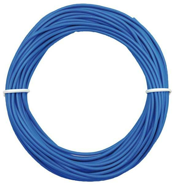 Schaltdraht isoliert, blau