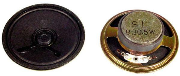 Luidspreker 0,5 W / 8 Ohm, Ø 56 mm