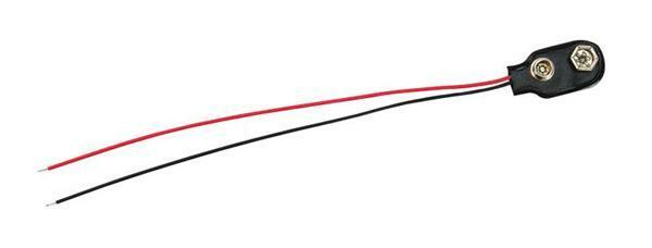 Support de pile 9V avec câble électrique