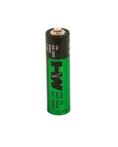 Zink-koolstof batterij - 1,5 V, penlite AA,4 st.
