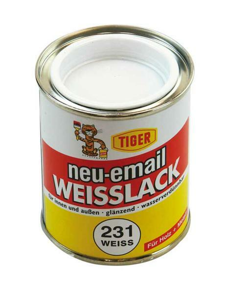 acryllak - 125 ml, wit