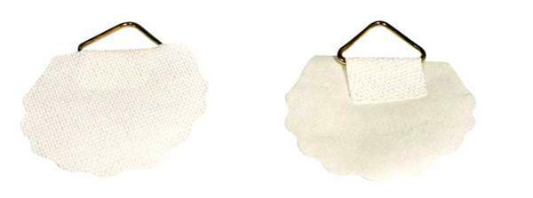 Crochet de susp.papier Ø 30mm autocollant 100 pces