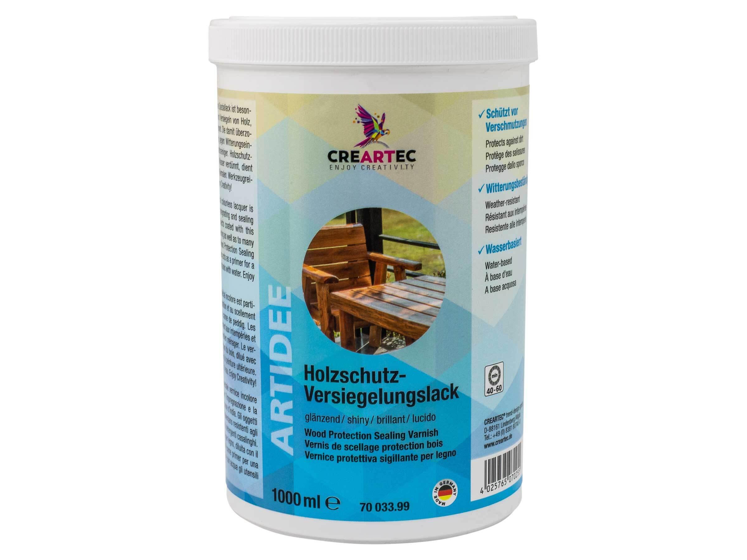 Beschermende houtlak 1000 ml glanzend
