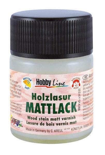 Beschermende lak voor houtlazuren - 50 ml, mat