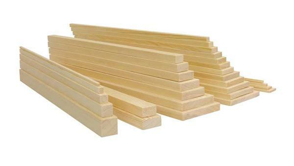 Holzleiste Kiefer 50 cm, 0,5 x 0,5 cm