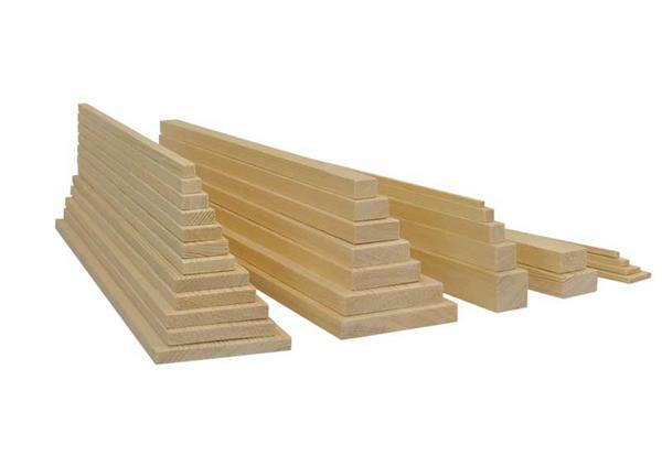 Grenen plank - 10 cm, 1 x 7,5 cm