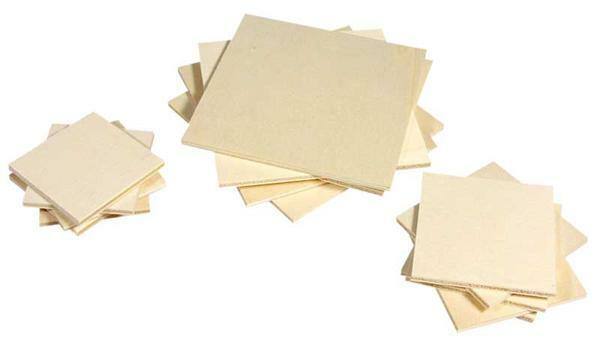 Memoryplättchen Pappelsperrholz - 4 mm, 10 x 10 cm