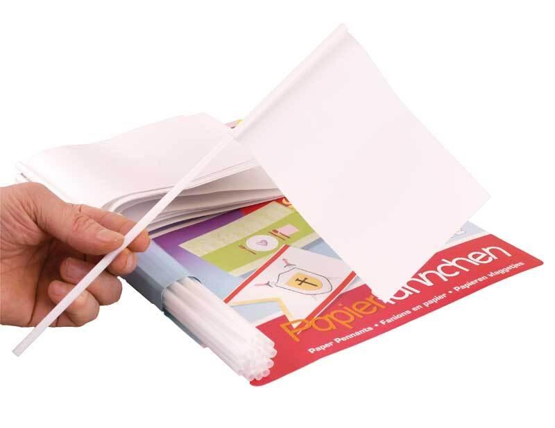 Drapeaux papier blanc - DIN A6, 20 pces