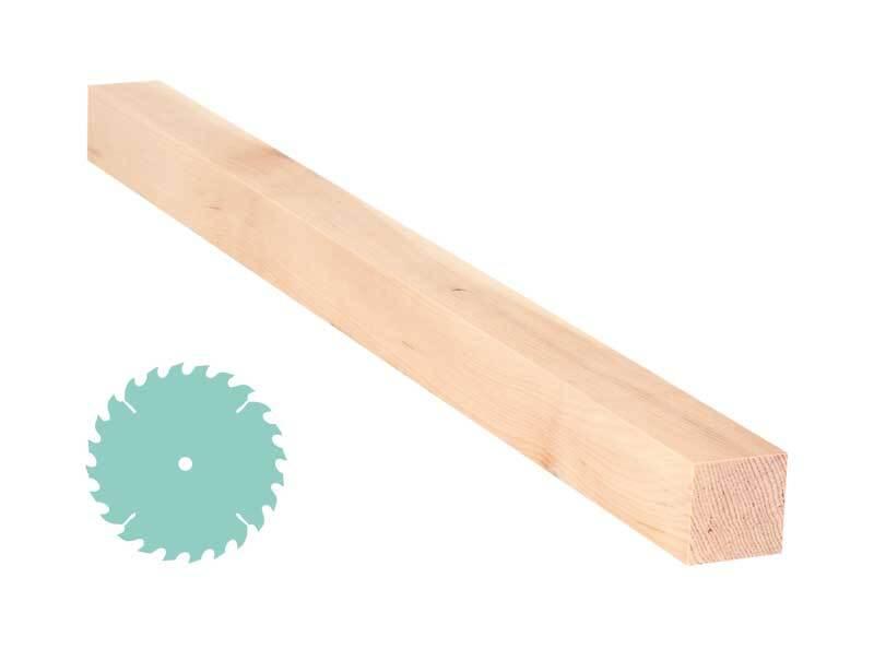 Zirbenholz-Zuschnitt - 3 x 3 cm