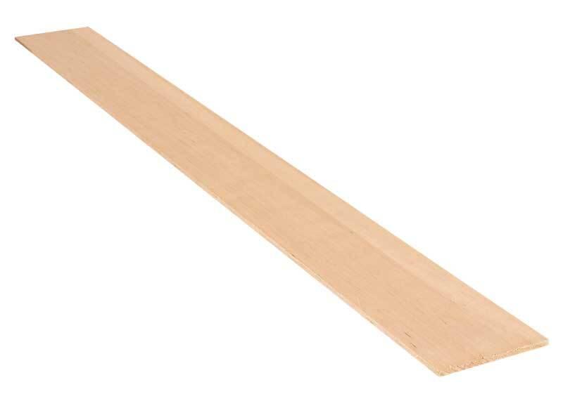 Balsa hout - 10 x 100 cm, 5 mm