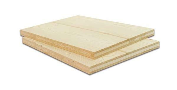 Massief naaldhout plaat - 19 mm, 43 x 29 cm
