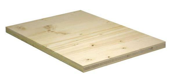 Fichtemassiv Naturholzplatte - 19 mm, 43 x 29 cm