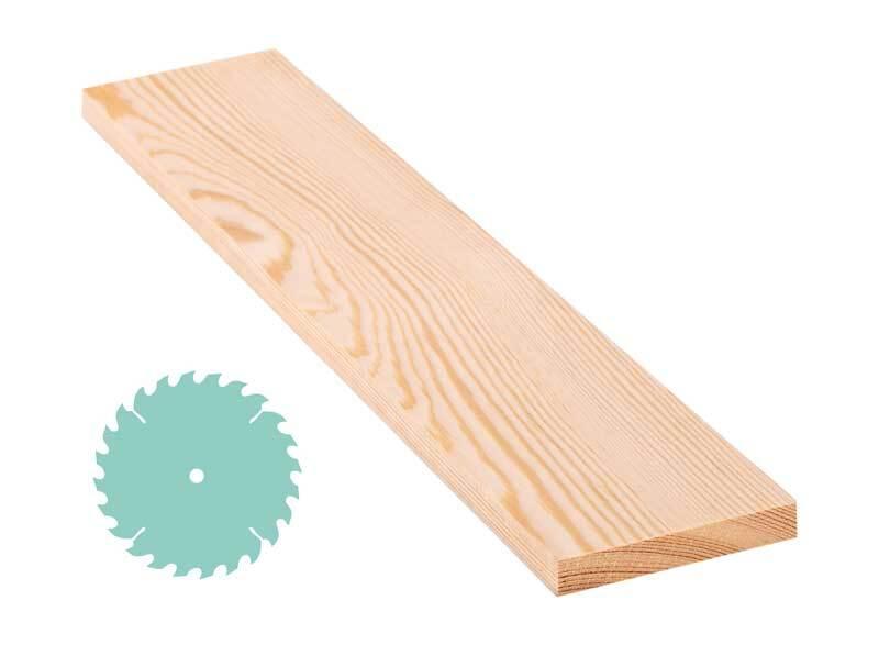 Planche en pin - DS, 1,5 x 10 cm