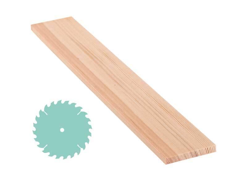 Grenen plank - zaagservice, 1 x 7,5 cm