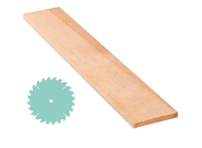 Grenen plank - zaagservice, 1 x 8 cm