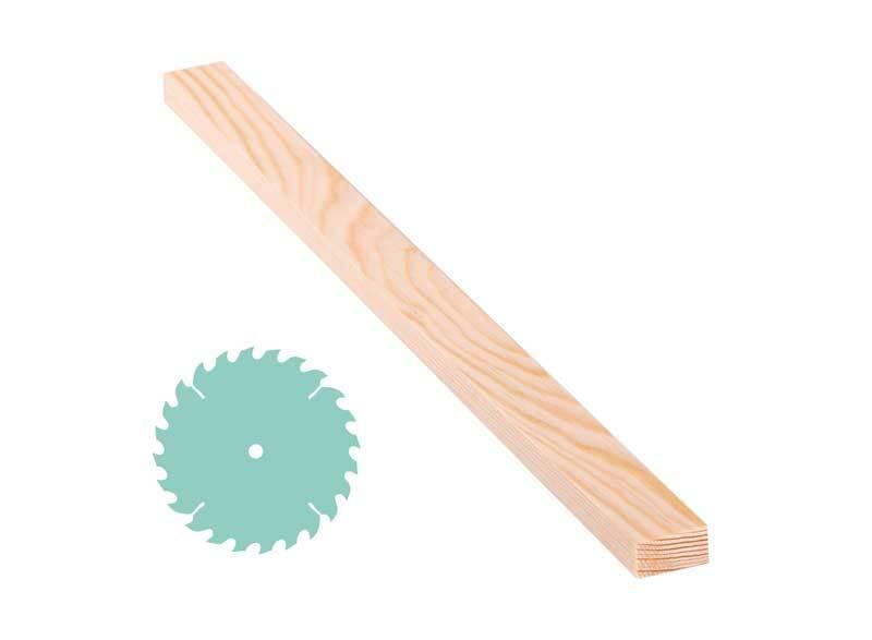 Kiefernholzleiste ZS, 1,5 x 3 cm
