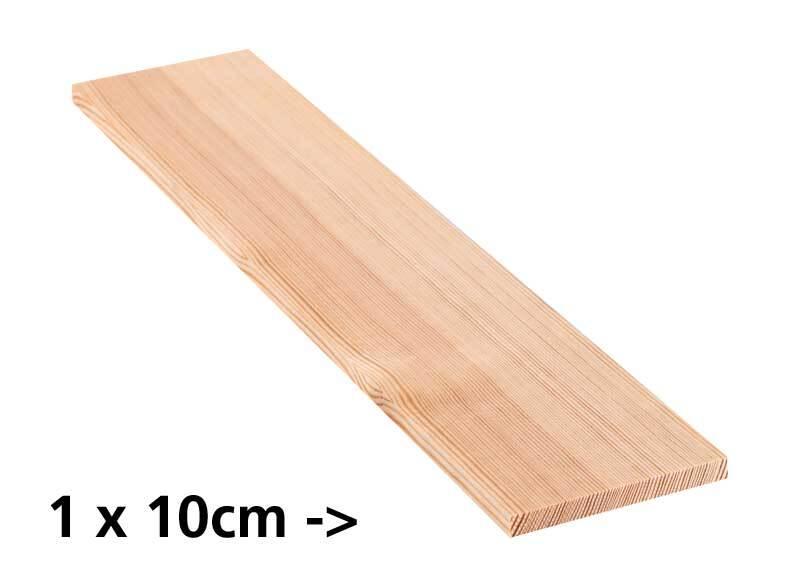 Planche en pin - 10 cm, 1 x 10 cm