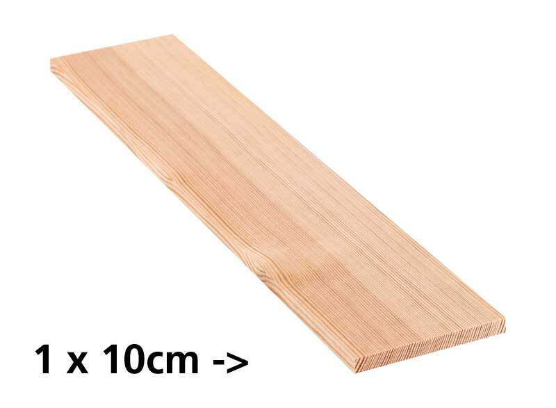 Grenen plank - 10 cm, 1 x 10 cm