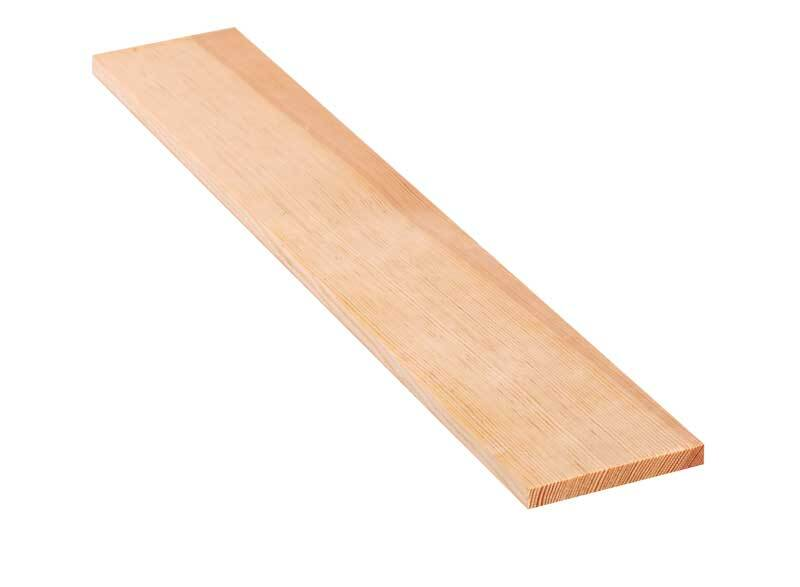 Grenen plank - 40 cm, 1 x 8 cm