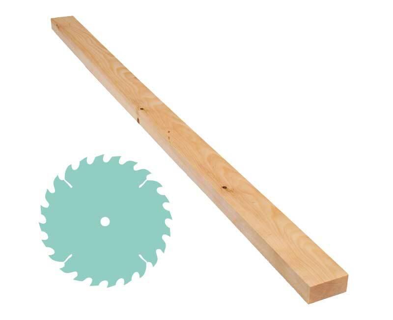 Pin cembro - Découpe sur mesure, 2,4 x 5 cm